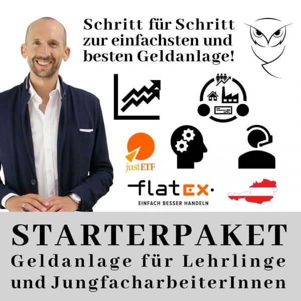 Starterpaket - Geldanlage für Lehrlinge und JungfacharbeiterInnen - Kapitalmeister - ETF-Sparplan und Empfehlungen